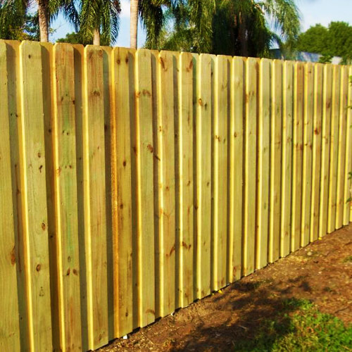 Wood fence South Florida